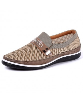Men Breathable Wear-resistant Soft Sole Slip On Casual Shoes