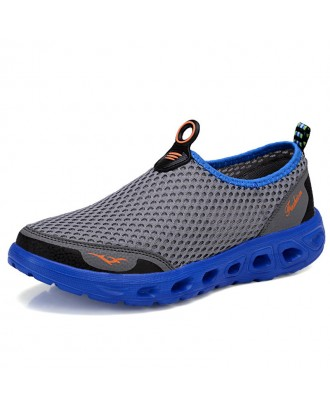 Large Size Men Honeycomb Mesh Quick Drying Upstream Shoes Casual Beach Shoes