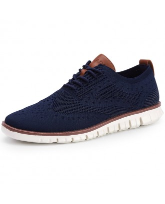 Men Knitted Fabric Breathable Non-slip Soft Casual Running  Sneakers