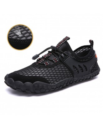 Large Size Men Mesh Slip Resistant Outdoor Hiking Wading Water Shoes