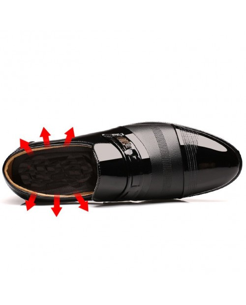 Men Cap Toe Pointed Toe Slip On Business Formal Shoes