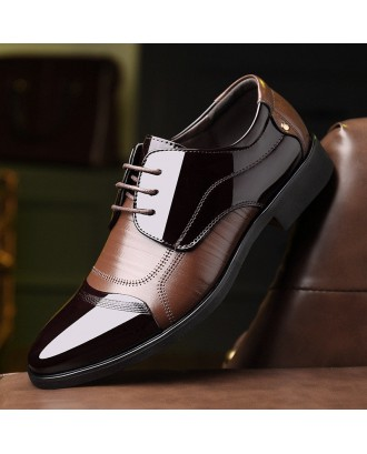 Men Classic Color Blocking Business Formal Dress Shoes