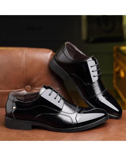 Men Classic Color Blocking Business Formal Dress Shoes