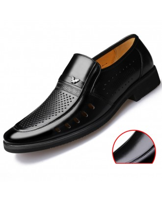 Men Genuine Leather Soft Slip Resistant Casual Formal Shoes