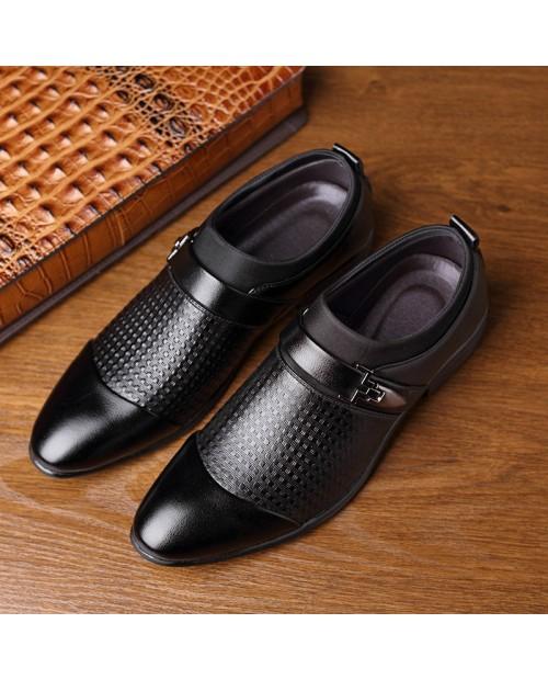 Large Size Men Stylish Cap Toe Slip On Business Formal Dress Shoes