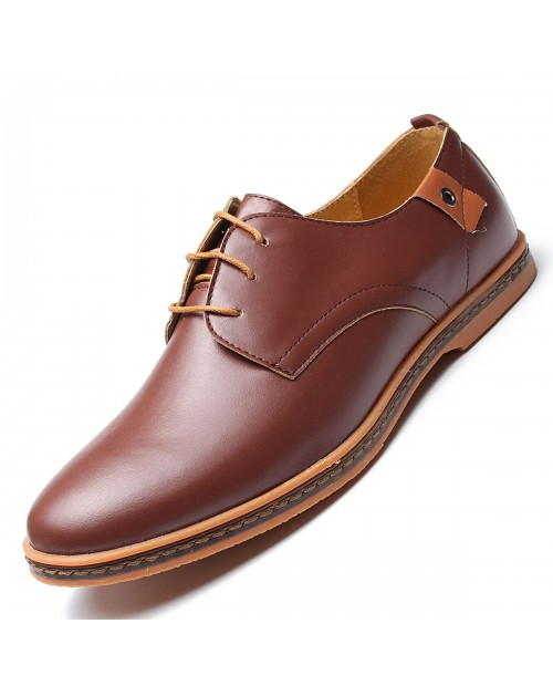 Large Size Men Lace Up European British Style Flat Casual Oxford Shoes