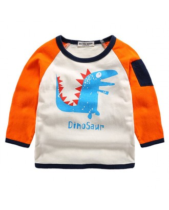 Animal Pattern Cool Boys Long Sleeve Tops Shirt For 2Y-9Y