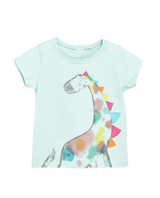 Animal Print Girls Boys Short Sleeve T-Shirt For 1-9Years
