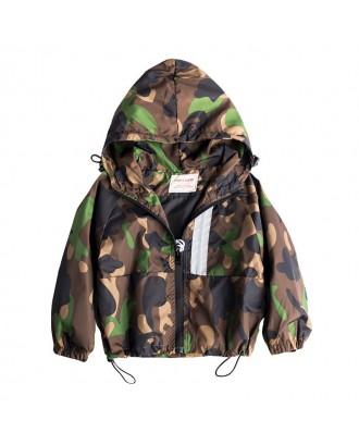 Camouflage Boys Kids Windbreaker Outerwear Coat For 2Y-9Y