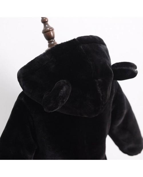 Fleece Bear Ears Girls Boys Hooded Warm Coats For 2Y-13Y