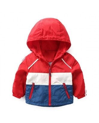 Cool Boys Sport Jacket Kids Coats Winter Autumn Windbreaker Outerwear For 2Y-9Y