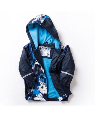 Kids Boys Raincoat for Spring Autumn Hooded Waterproof Windproof Ski Snowsuit Jacket