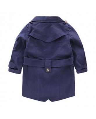 Classic Boy Windbreaker Kids Boys Long Trench Coat for 2-13Y