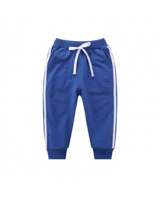 Casual Sport Style Boys Kids Striped Pants For 1Y-11Y