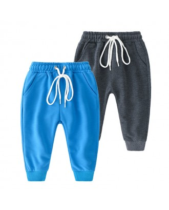 Comfy Sport Style Toddler Boys Striped Pants For 1Y-7Y