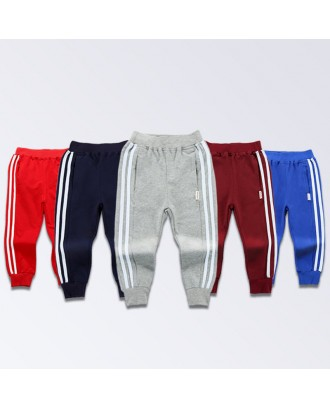 Cotton Sports Kids Boys Long Pants Trousers Casual Children Clothing