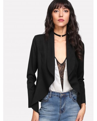 Shawl Collar Open Front Blazer