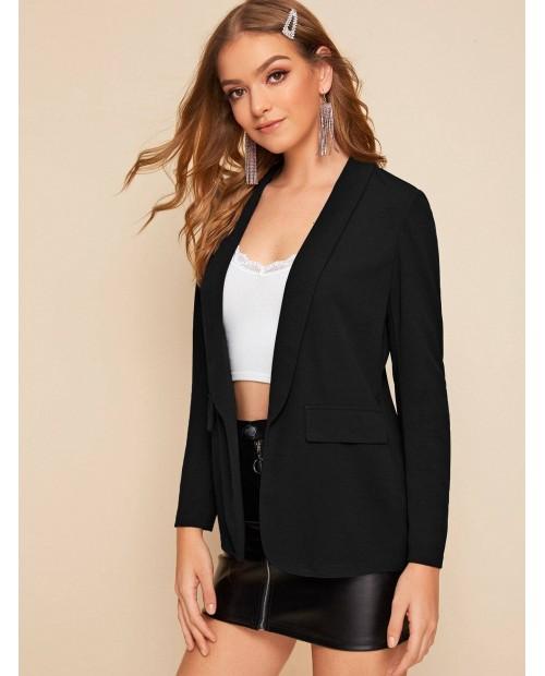 Shawl Collar Solid Tailored Blazer