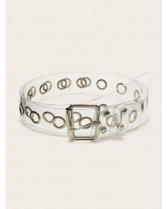 Clear Square Shaped Buckle Belt 1pc