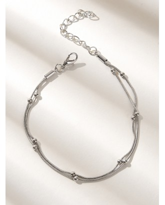 Ball Decor Chain Anklet 1pc