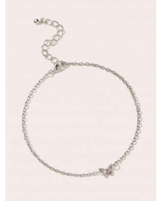 Butterfly Charm Chain Anklet 1pc