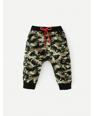 Toddler Boys Camo Drawstring Pants