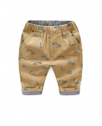 Toddler Boys Car Print Pants