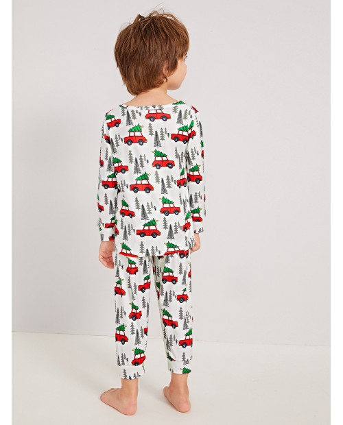 Toddler Boys Car Print Pajama Set
