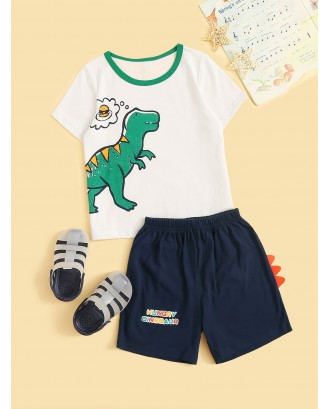 Toddler Boys Dinosaur Graphic Pajama Set