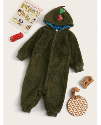 Toddler Boys Plush Dinosaur Onesie