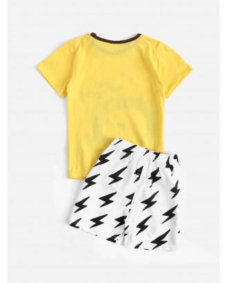 Toddler Boys Lion Graphic Pajama Set