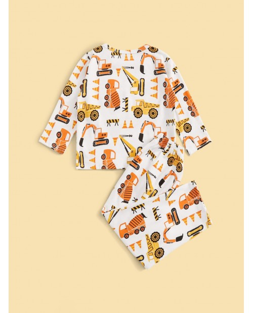 Toddler Boys Cartoon Car PJ Set