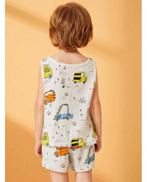 Toddler Boys Allover Car Pajama Set