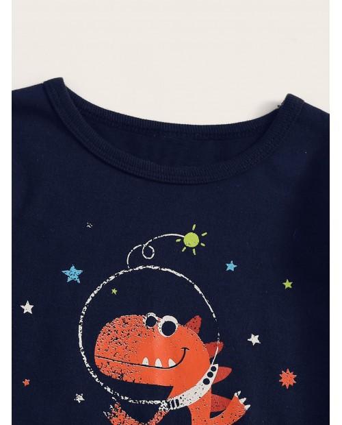 Toddler Boys Cartoon & Star Print Pajama Set