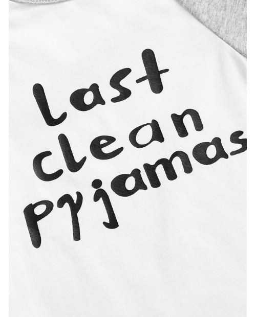 Toddler Boys Slogan Graphic Pajama Set