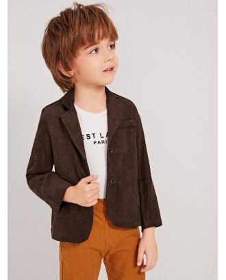Toddler Boys Lapel Double Button Blazer