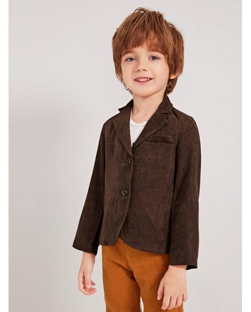 Toddler Boys Lapel Double Button Blazer