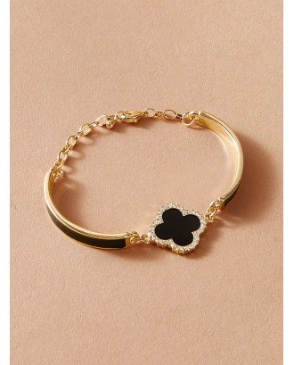 1pc Clover Decor Bracelet